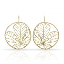 Nature 3 Gold Earring