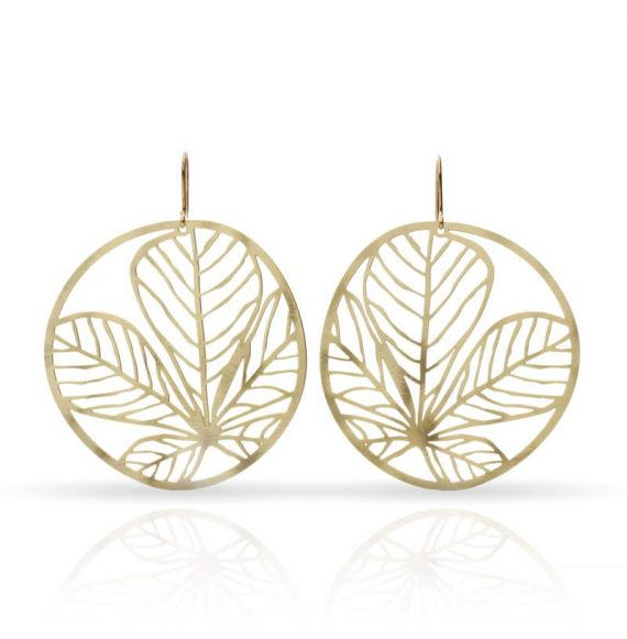 Earrings Nature 3 Earring Gold