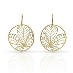 Earrings Nature 3 Small Earring Gold