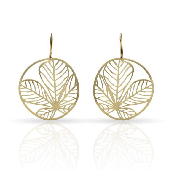 Nature 3 Gold Small Earring