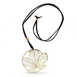 Necklace Nature 3 Long Pendant Gold