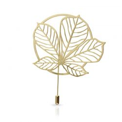 Nature 3 Gold Brooch