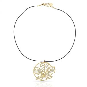 Nature 3 Gold Short Pendant
