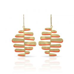 Earrings Nilo Gold-Red Earring