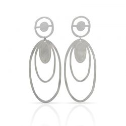 Earrings Large Earrings Smile Mallorca Silver