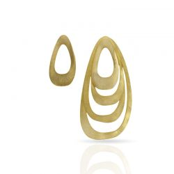 "Earrings Big Earrings \""Menhir\\"" Gold"