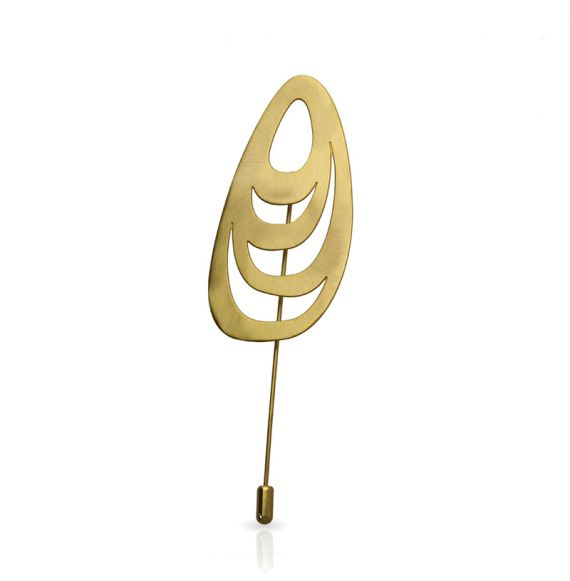 Menhir Brooch Gold