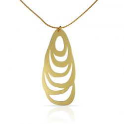 Necklace Menhir Short Pendant Gold