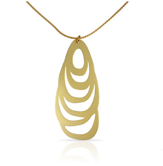Menhir Short Pendant Gold