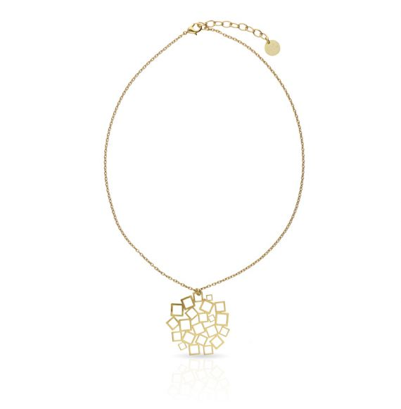 Necklace Cuadrado al Cuadrado Short Pendant Gold