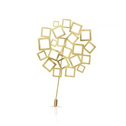 Brooches Cuadrado al Cuadrado Brooch Gold
