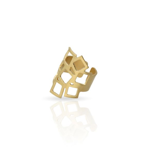 Rings Cuadrado al Cuadrado 2 Ring Gold