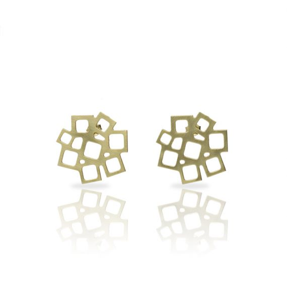 Earrings Cuadrado al Cuadrado Earring Gold
