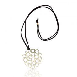 Necklace Cuadrado al Cuadrado Pendant Gold