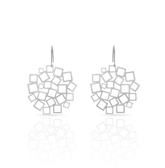 Earrings Cuadrado al Cuadrado Earring Silver