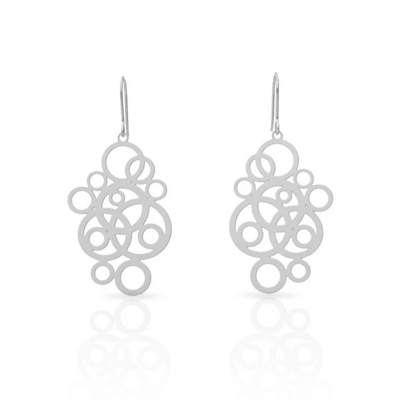 Earrings Circles Earrings Silver