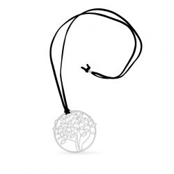 Necklace Tree Long Pendant Silver