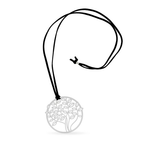 Collier long argenté Arbol
