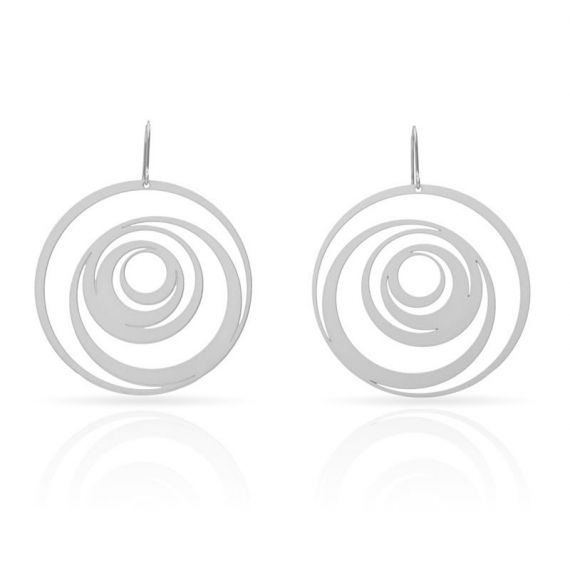 "Earrings Earrings \""Excéntrico\\"" Silver"