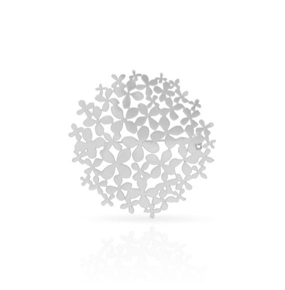 "Brooches Pin \""Hortensia\\"" Silver"