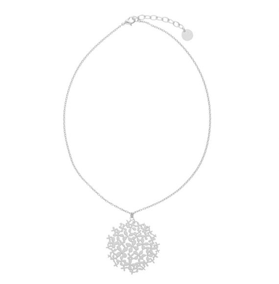 Necklace Hortensia Short Pendant Silver