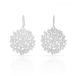 "Earrings Earrings \""Hortensia\\"" Silver"