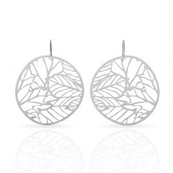 Nature 2 Earrings Silver