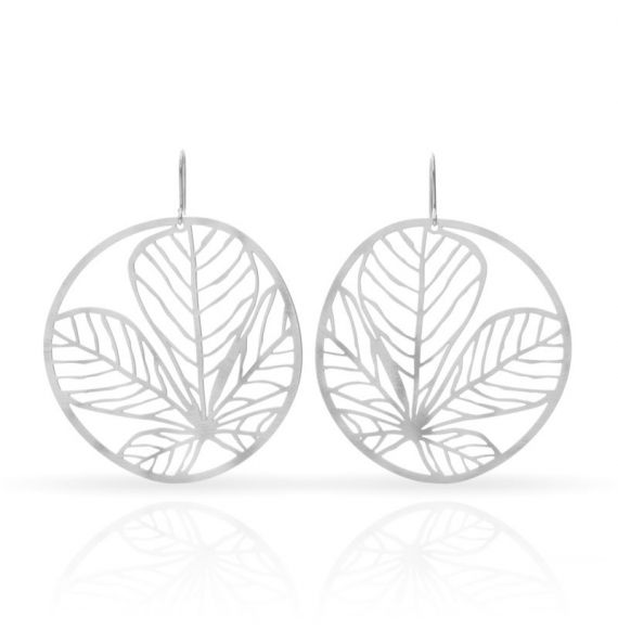 Nature 3 Silver Earring