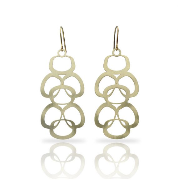 Earrings Geometrico Earring Gold