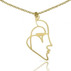 Necklace Beso Venecia Short Pendant Gold