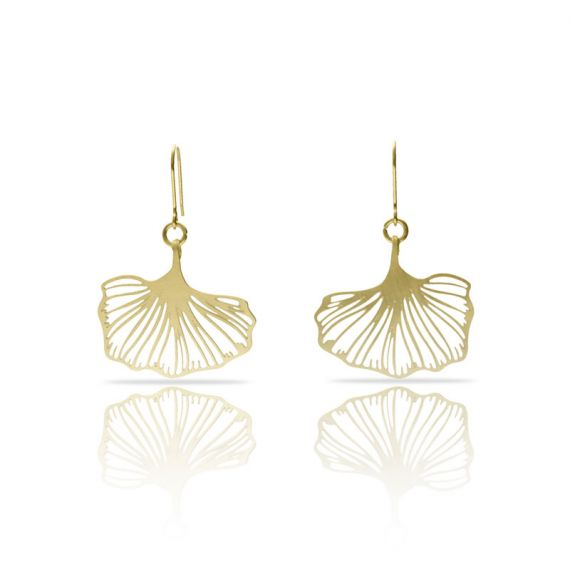 Earrings Ginkgo Biloba Gold Earring
