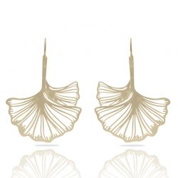 Earrings Ginkgo Biloba Gold XL Earring