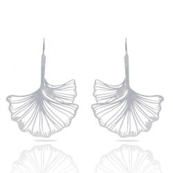 Earrings Ginkgo Biloba Silver XL Earring