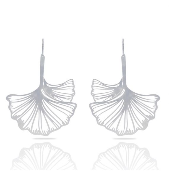 Earrings Earring Ginkgo Biloba XL Silver