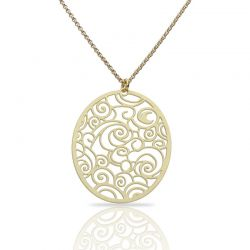 The Starry Night Gold Short Pendant