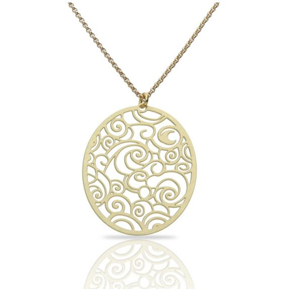 Necklace The Starry Night Gold Short Pendant