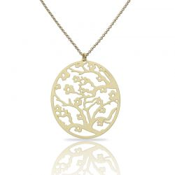 Necklace Almond Blossom Gold Short Pendant