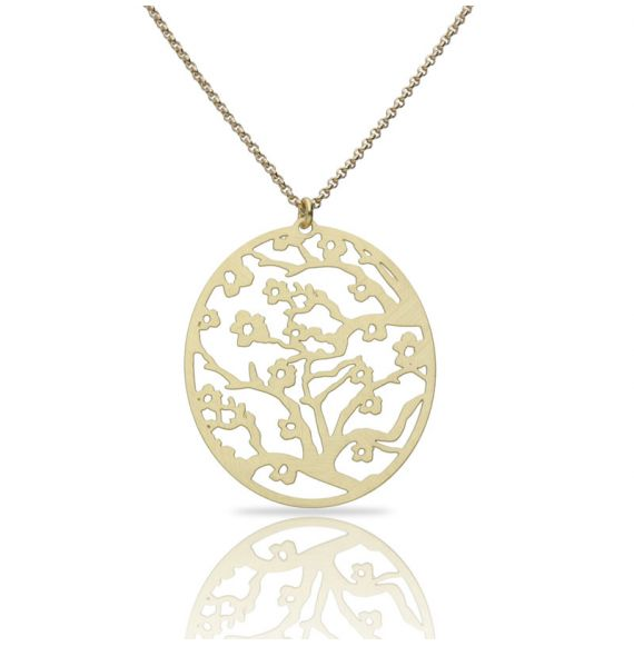 Necklace Almendro en Flor Short Pendant Gold