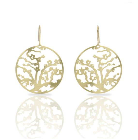 Almond Blossom Gold Earring