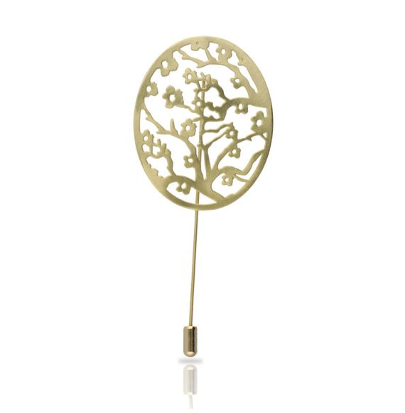 Brooches Brooch Almond Blossom Gold