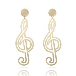 Clave de Sol Gold XL Earring