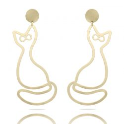 Gato XL Earring Gold