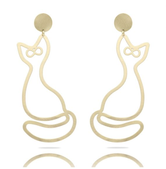 Earrings Cat XL Earring Gold