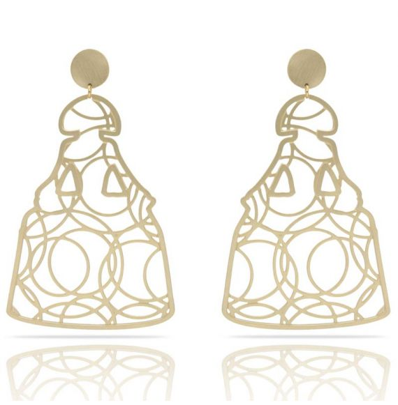 Earrings Earring Menina XL Gold