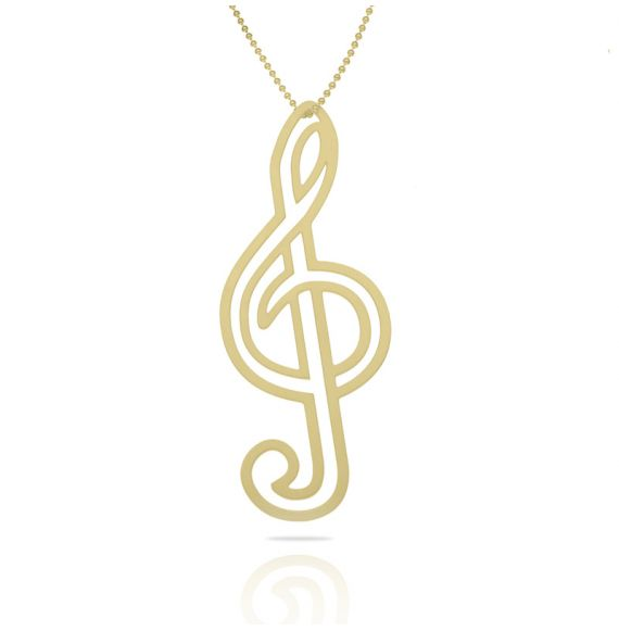 Necklace Clave de Sol XL Pendant Gold