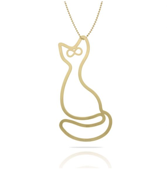 Necklace Gato XL Pendant Gold