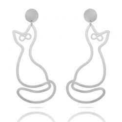 Earrings Gato XL Earring Silver
