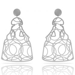 Earrings Menina XL Earring Silver
