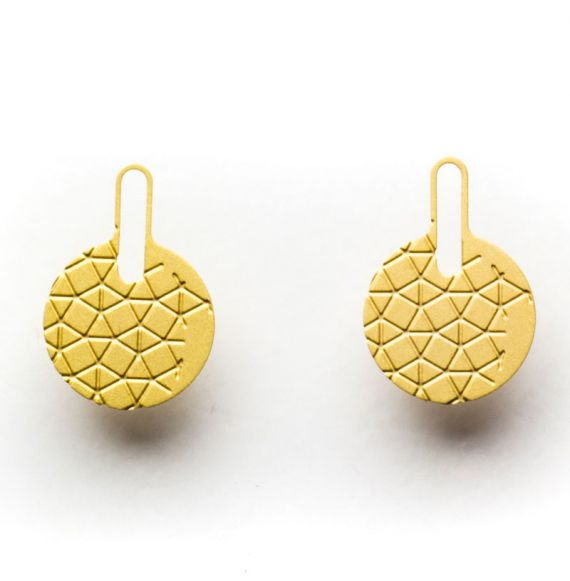 Earrings Earring Empreinte Gold