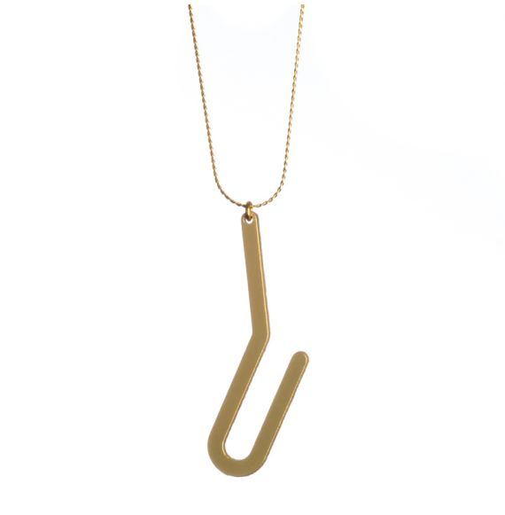 Necklace Racine Short Pendant Gold